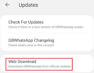 Update GBWhatsApp with Web Download
